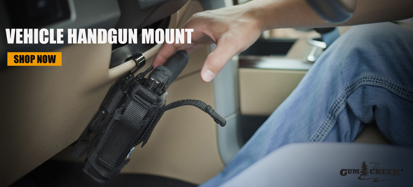 Gum Creek Vehicle Handgun Mount Steering Wheel Gun Holster Mount