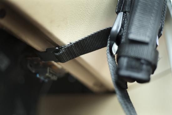 installation of steering wheel holster mount 7