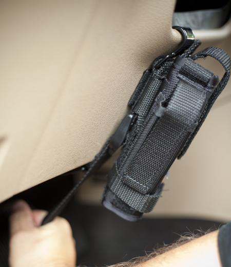 installation of steering wheel holster mount 8